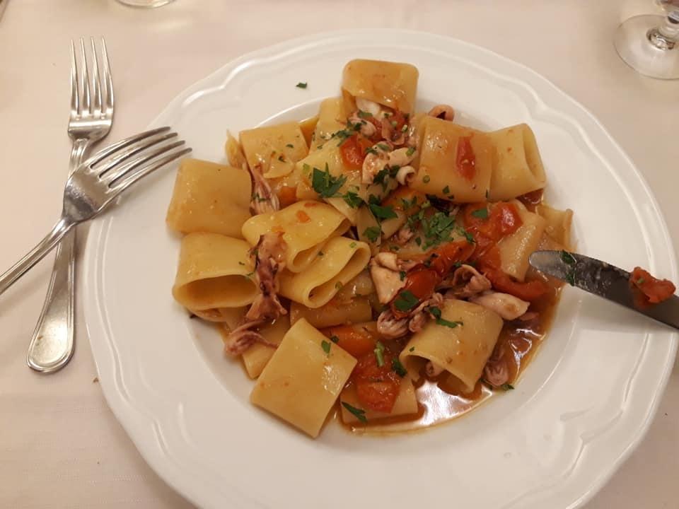pasta with squid from La Torricella