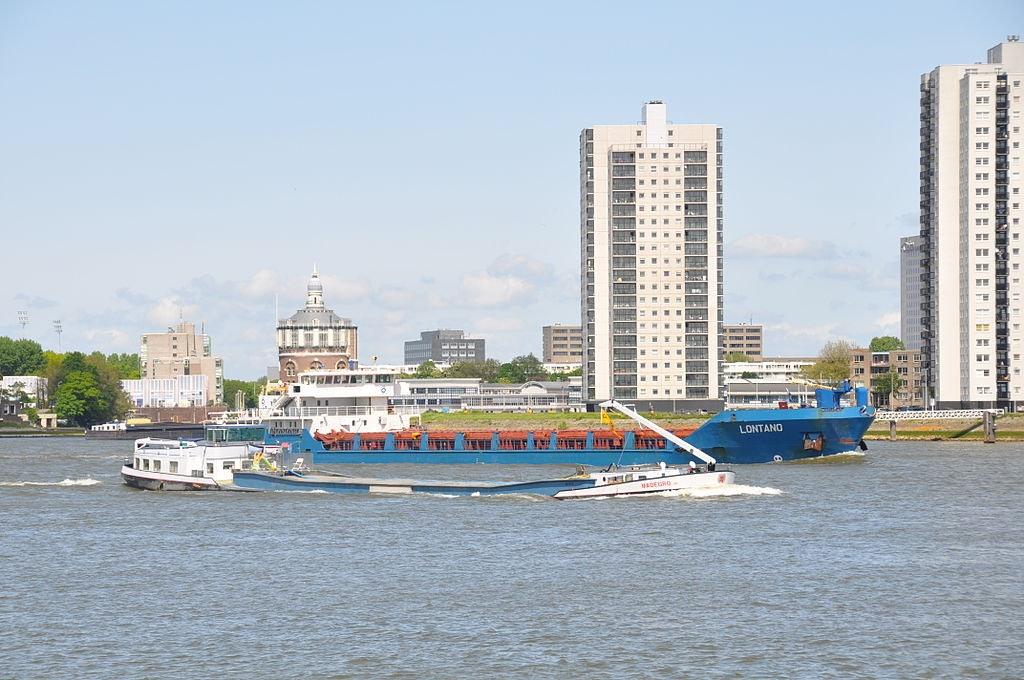 view of De Esch water side in Rotterdam