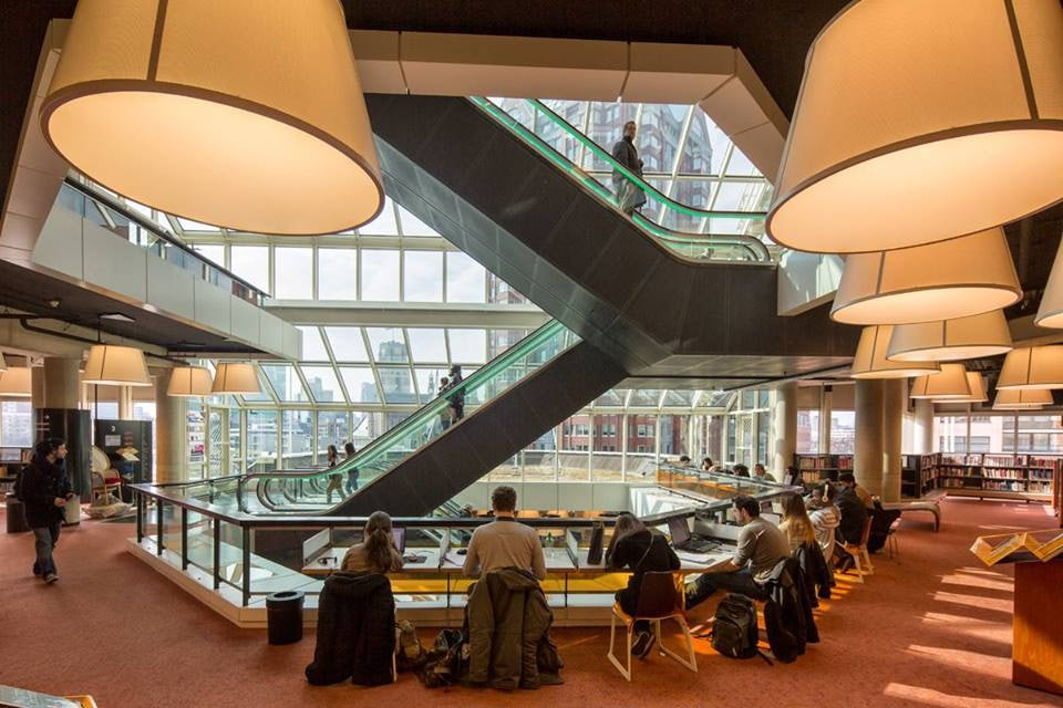 people reading at Rotterdam Central Library