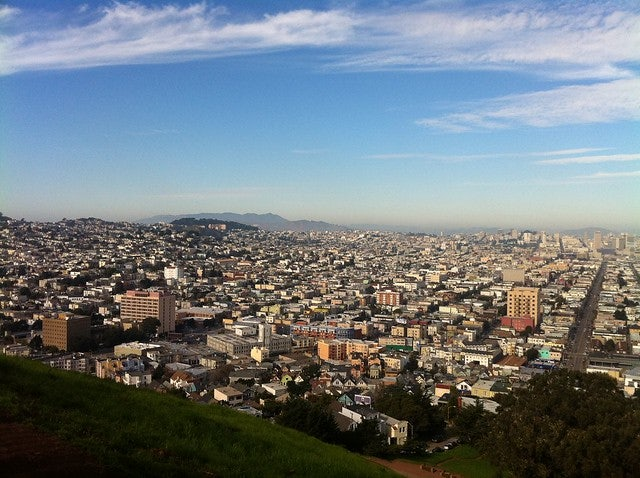 top view from Bernal Hill