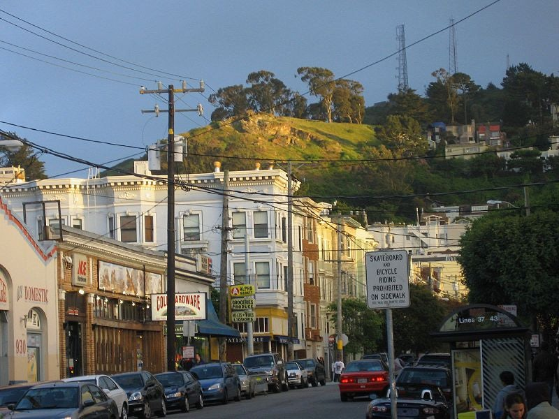 Tank Hill in San Francisco