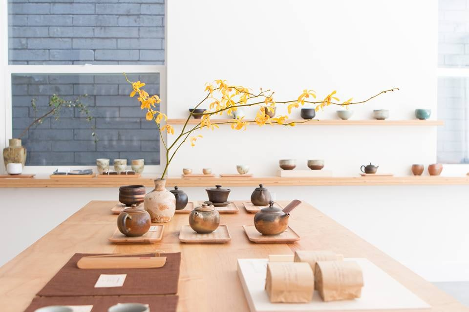 tea kettles and ceramics at Song Tea