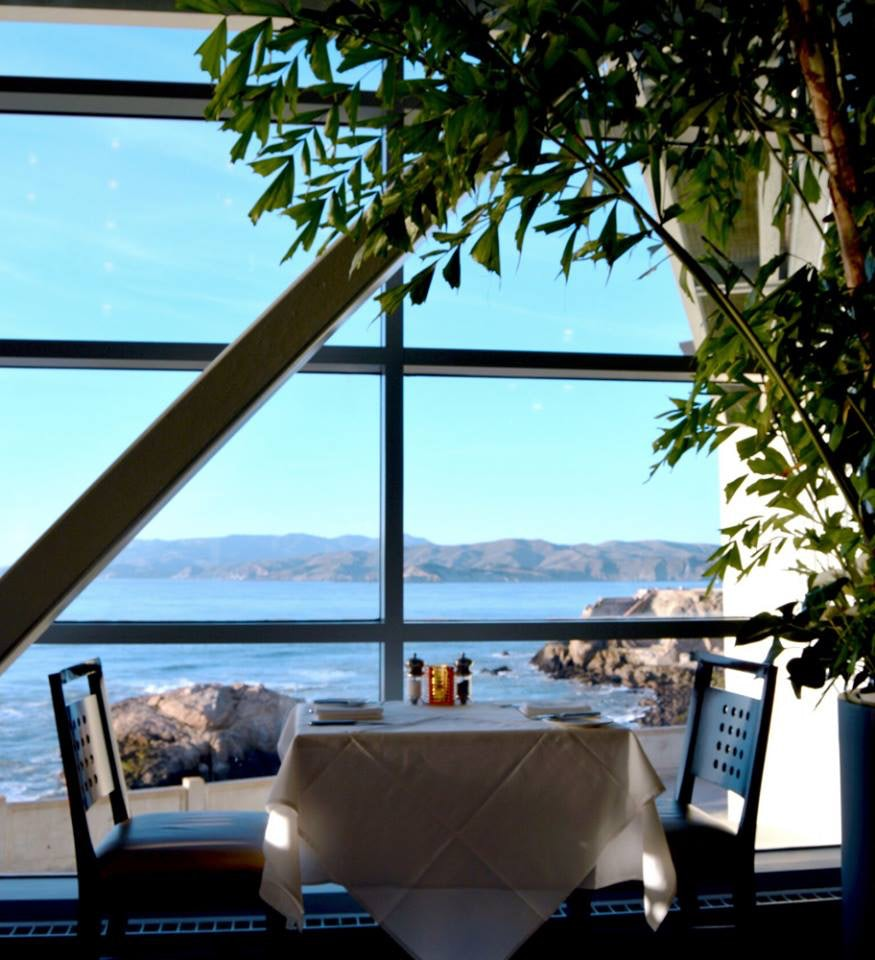 a table with a view at Cliff House San Francisco