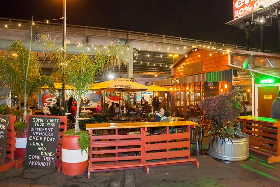 food stands at SoMa StrEat Food Park