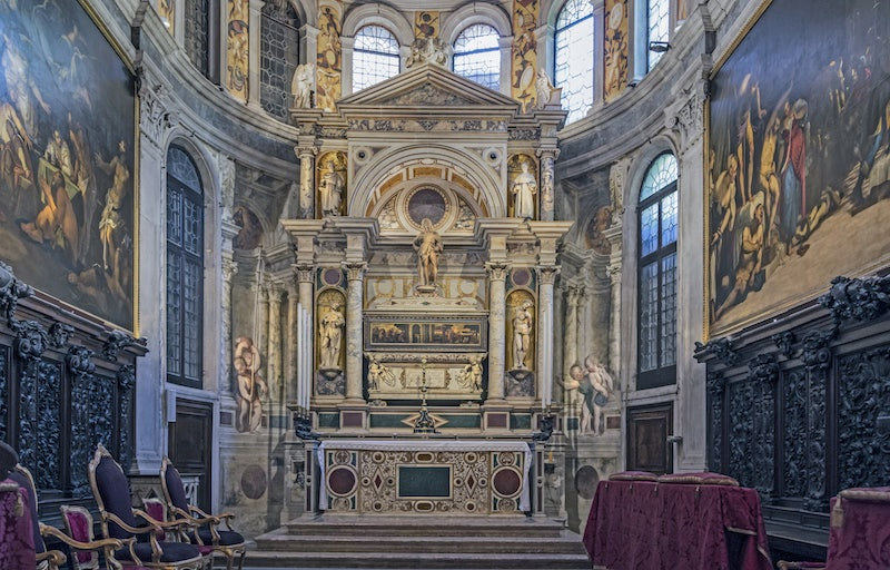 interior of San Rocco church in Venice
