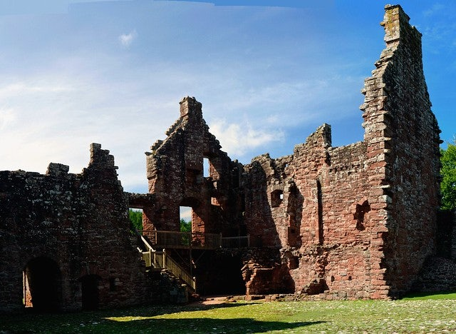 old ruins of the Edzell Castle in Scotland