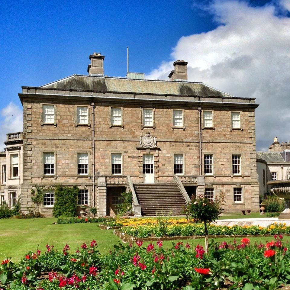 Exterior of Haddo House in Methlick Scotland