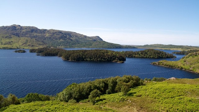 Loch Morar on a clear day
