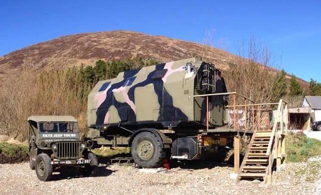 Boris the military pod on the Isle of Skye