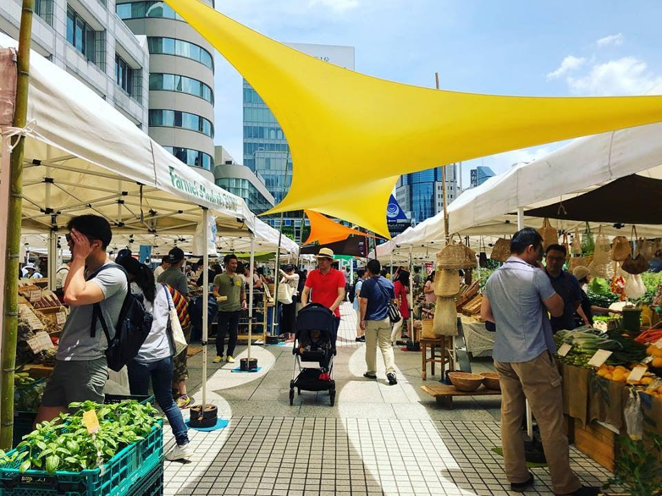 farmer's market at UNU tokyo