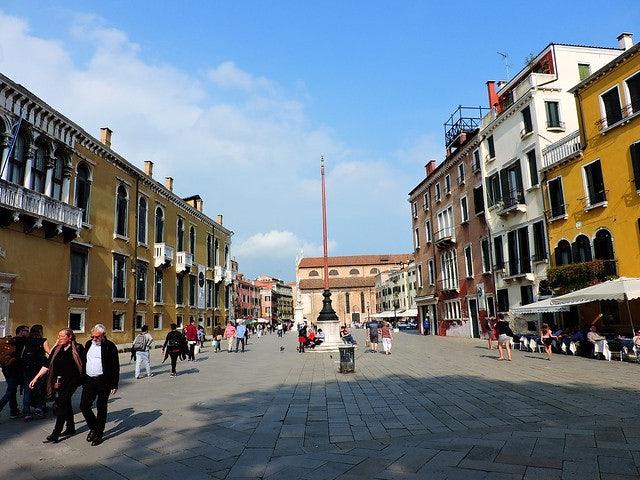 a square of campo in Venice