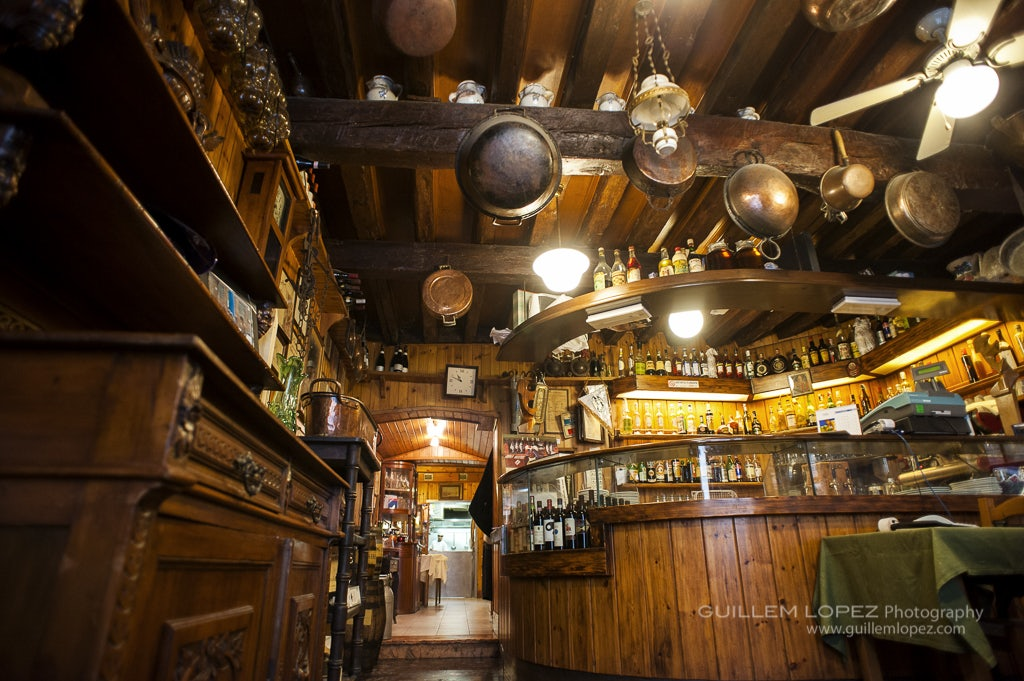 wooden interior of Trattoria da Bepi Già '54'