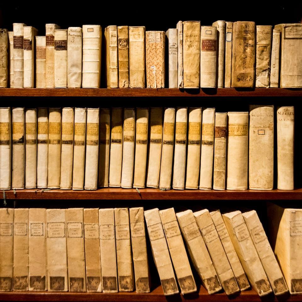 antique books at the Libreria Linea d'Acqua