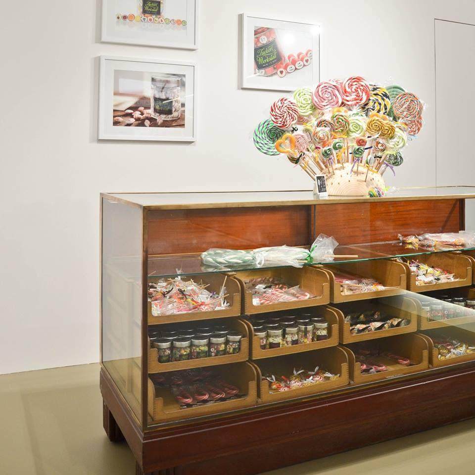 candies in display at Zuckerlwerkstatt