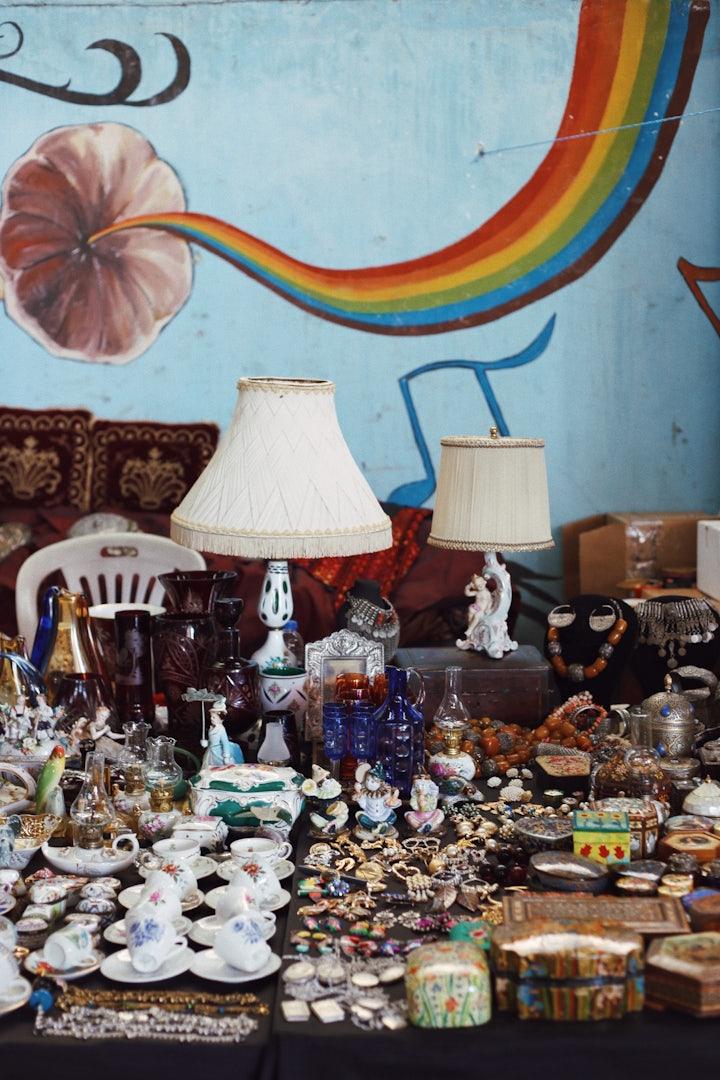 Istanbul - Bomonti Flea Market antiques stall