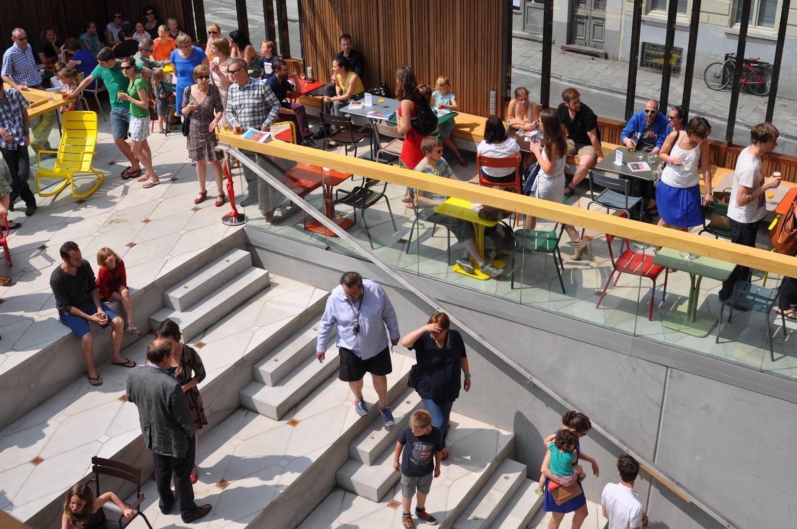 Ghent - cafe Vooruit rooftop terrace