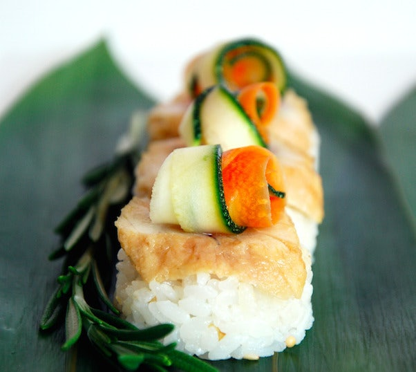 a traditional Japanese sushi dish from Ko'Uzi