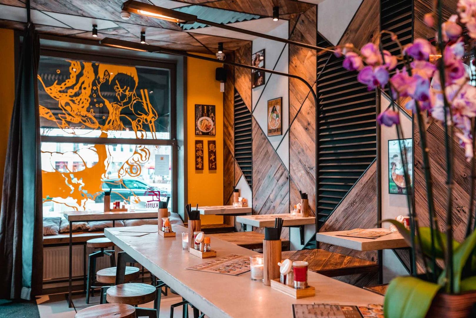 restaurant interior of Takumi Ramen Antwerp