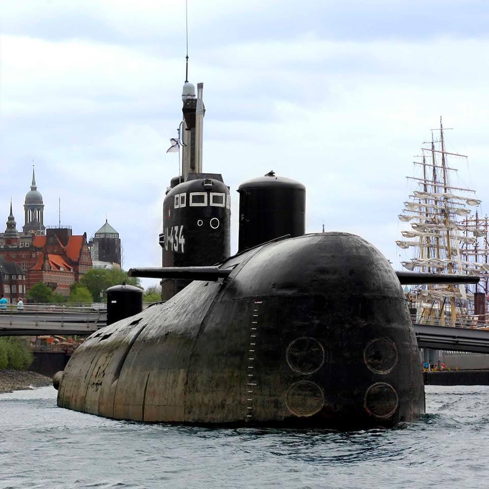 U-434 boat in Hamburg