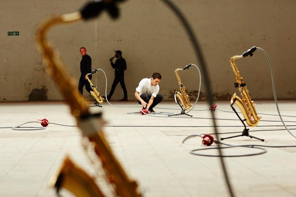 a music installation at the Hello:Festspiele in Hamburg