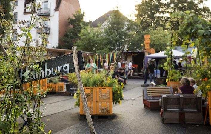 Gartendeck St. Pauli in Hamburg