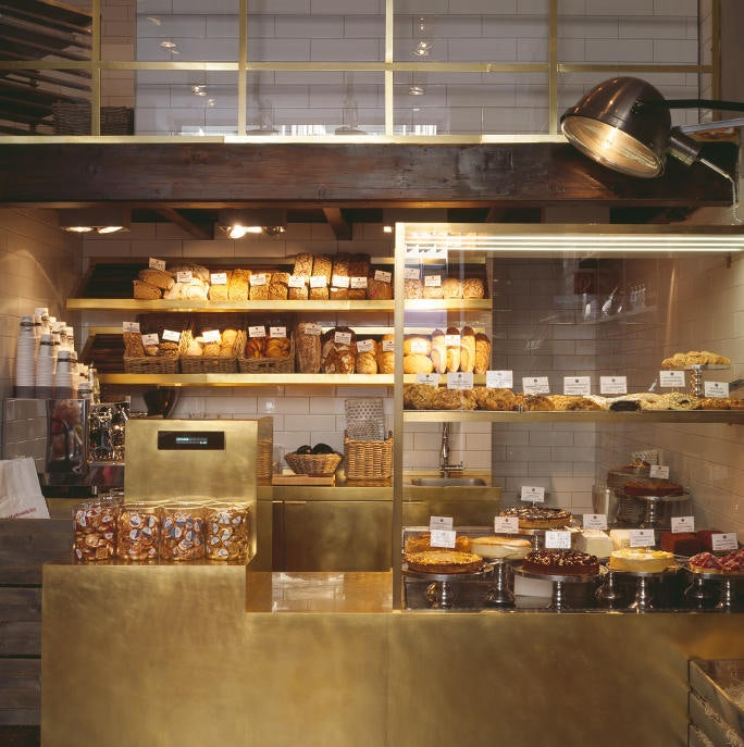 bread and pastries displayed at Mutterland store