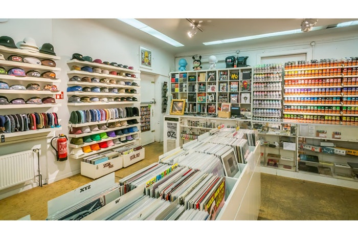 hats, accessories and records at Underpressure store Hamburg