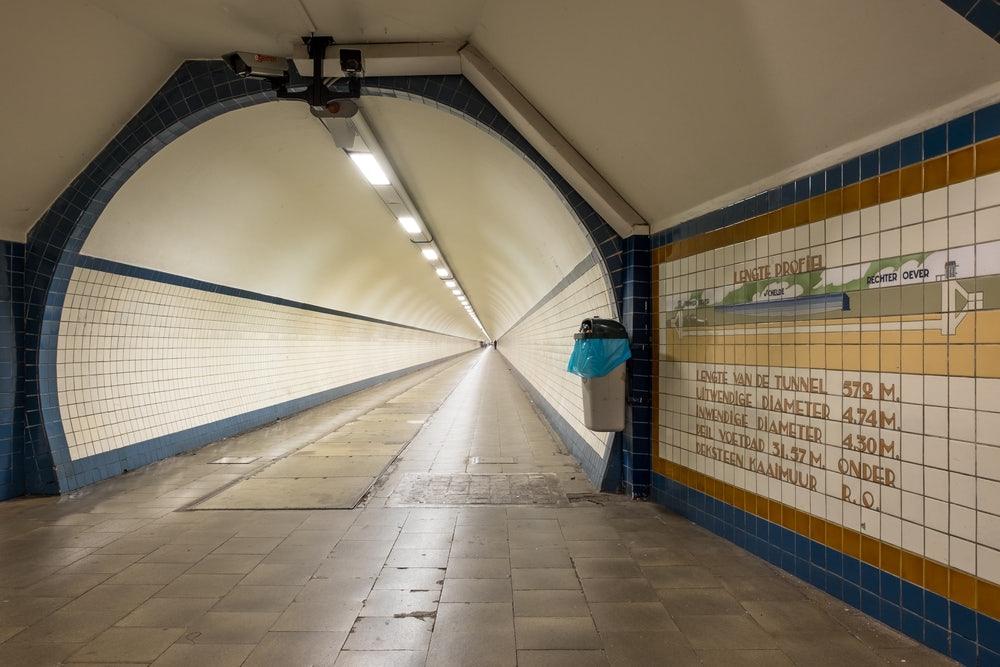 Antwerp - Sint Anna bike tunnel Linkeroever