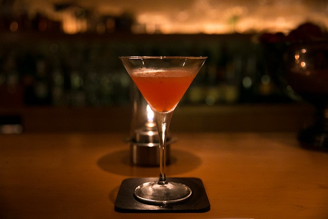 a pink-coloured cocktail