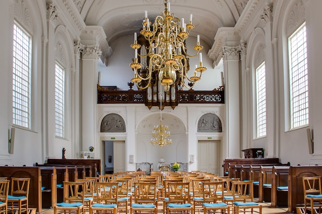 interior of Old-Catholic clandestine church in The Hague