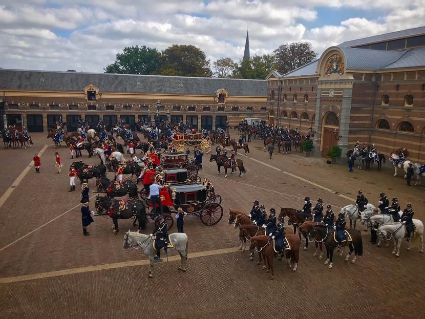 horses and carriages at the Royal Stables The Hague