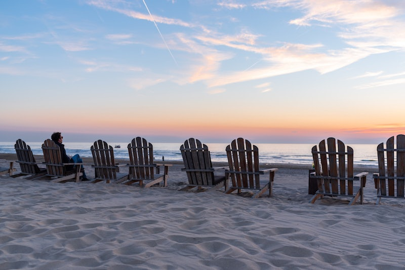 chairs on the beach at De Staat beach resaurant