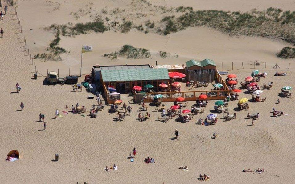 aerial view of Het Puntje beach bar