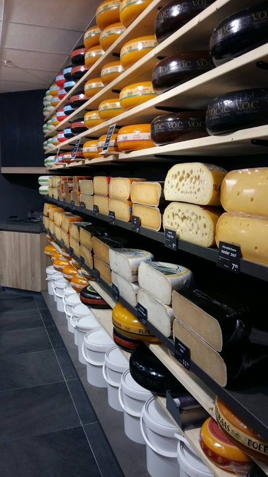 Cheeses at Alexanderhoeve store in The Hague