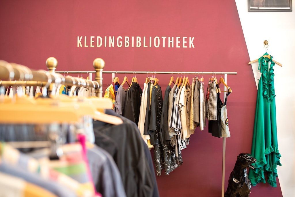 clothing and store interior of Bij Priester in The Hague