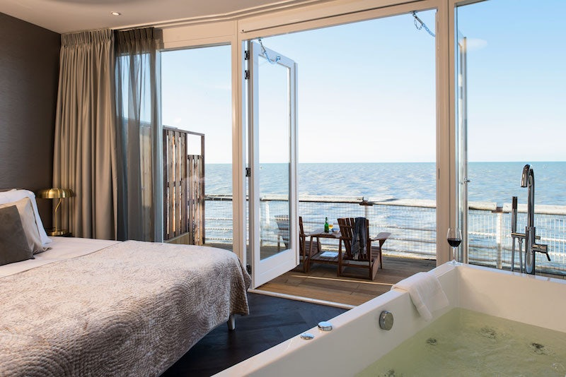 a room at Pier Suites The Hague with  view over the ocean
