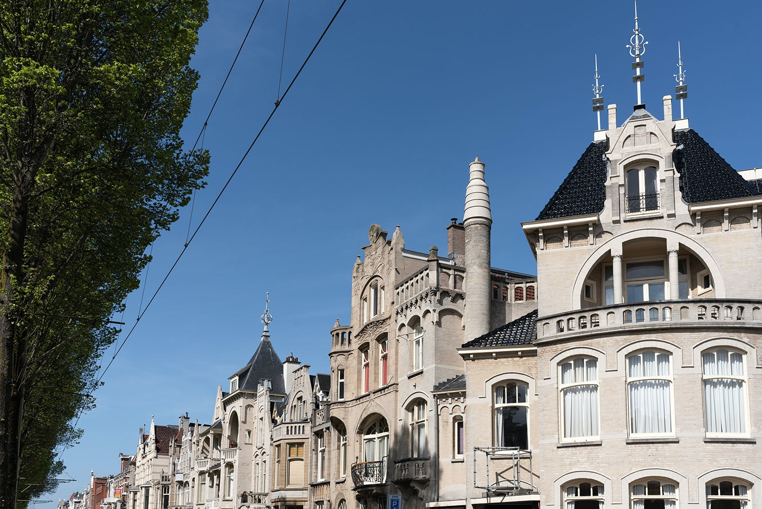 roofs of art nouveau houses in the Laan van Meerdervoort The Hague