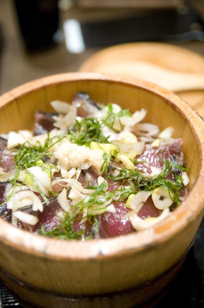 a Japanese tuna dish from Ohitsuzen Tanbo