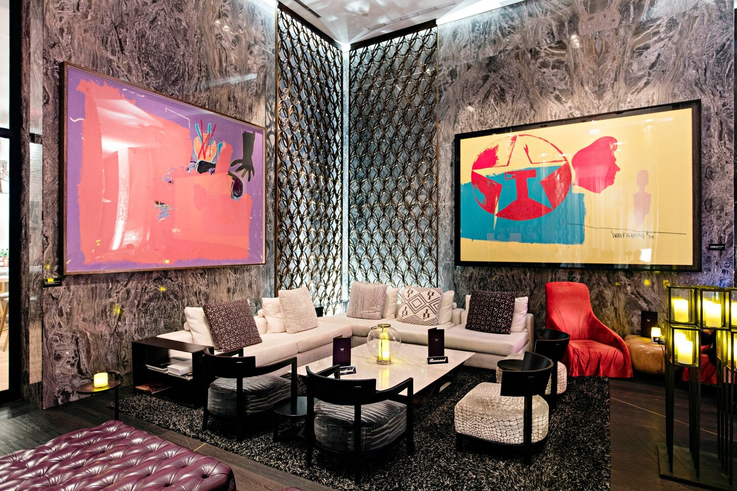 interior of bar Living Room at the W Hotel Miami