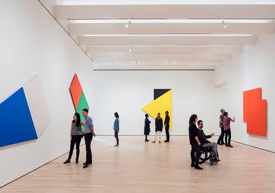 people admiring modern art at SFOMO