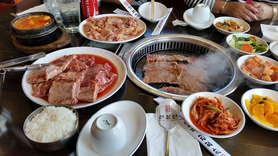 Korean BBQ at Han II Kwan restaurant in San Francisco