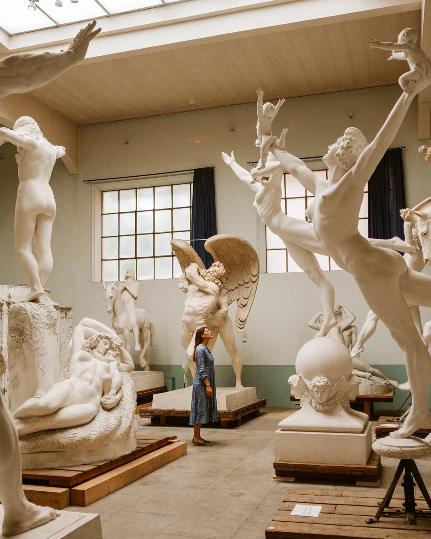 Rome - inside of Museo Hendrik Christian Andersen sculpture studio