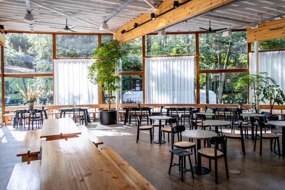 open and spacious bar interior of Grand Café Capital
