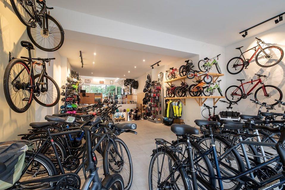 interior of Goodbikes shop