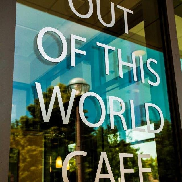window facade of Out of This World Cafe