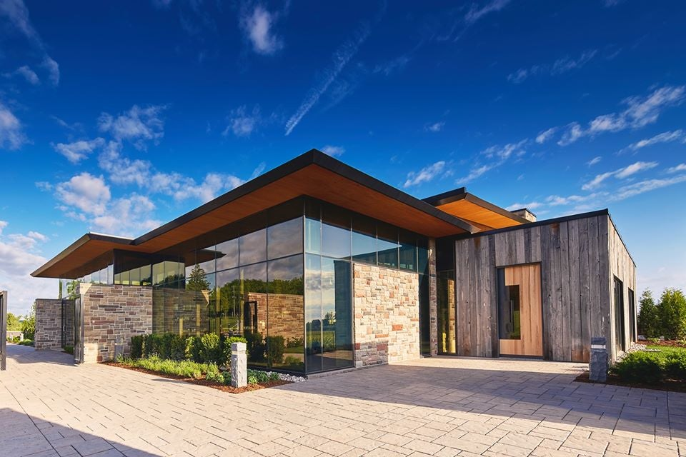exterior of Red Stone winery in Toronto