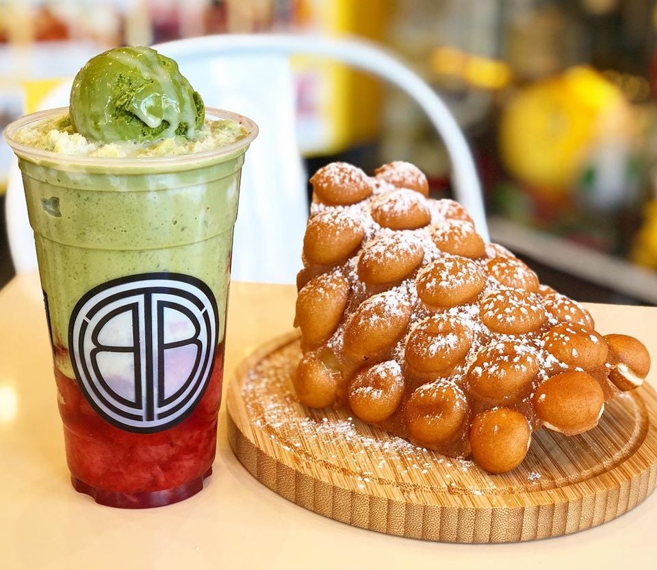 Bubble Tea and Bubble Waffle from BTS Vancouver