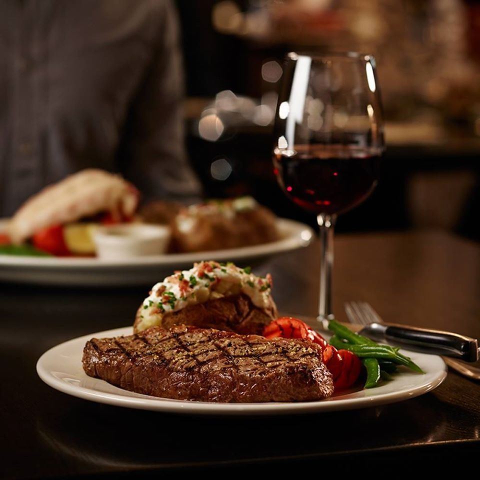 food and wine at The Keg Steakhouse + Bar