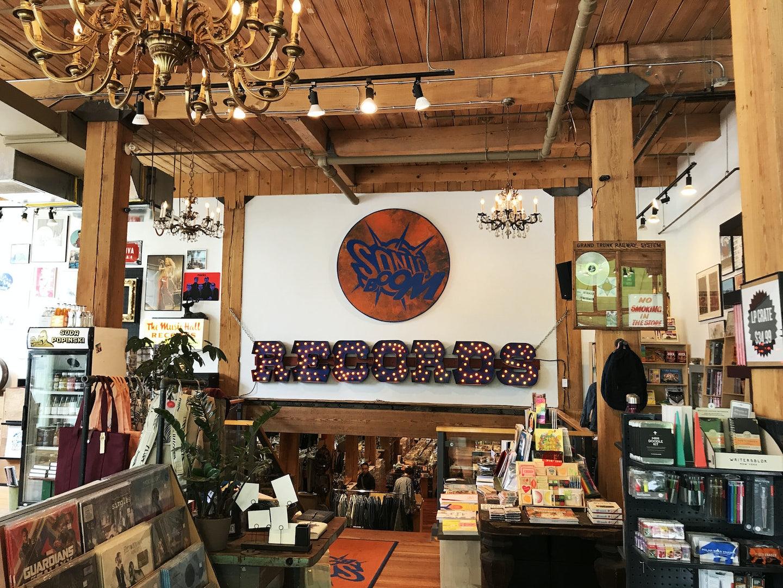 record store Sonic Boom in Spadina Avenue