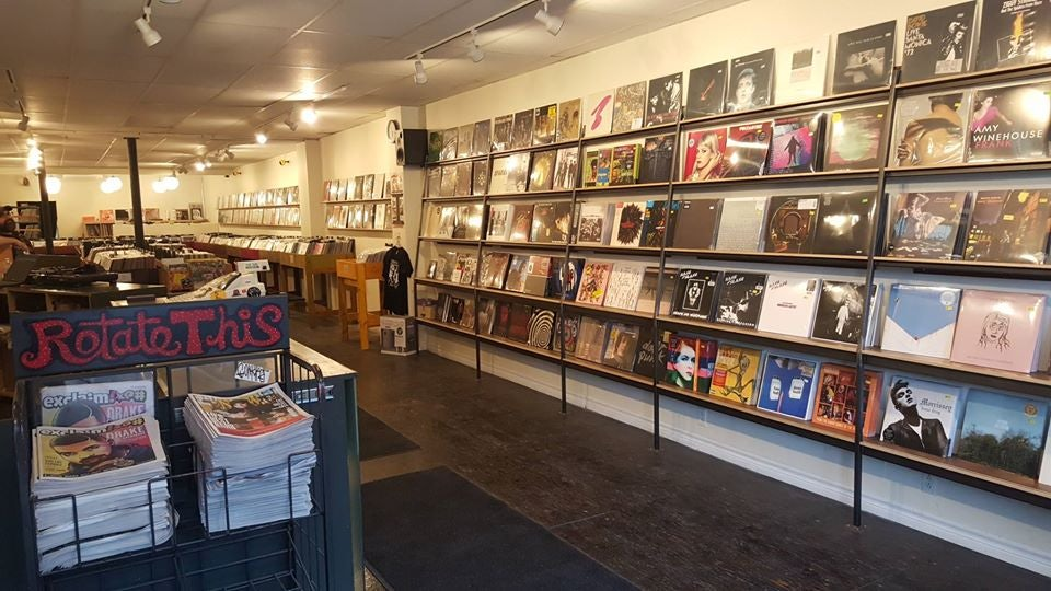 records displayed at Rotate This store in Toronto